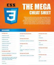 CSS3 Cheat sheet - tags and attributes